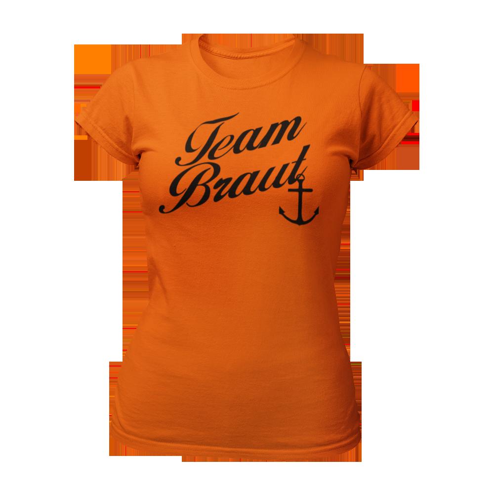 T-Shirt Team Braut mit Anker