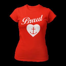 T-Shirt Braut mit Anker (Braut Shirt)