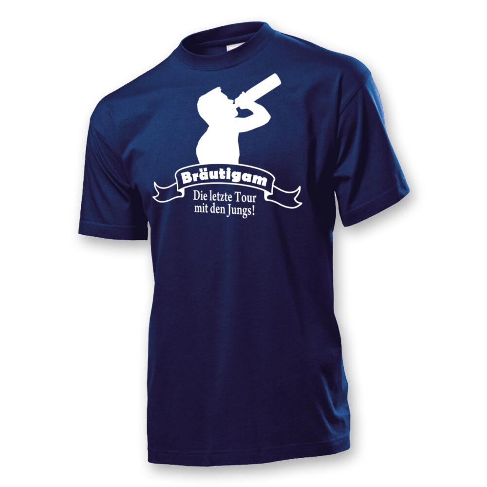 T-Shirt Die letzte Tour mit den Jungs! Bräutigam