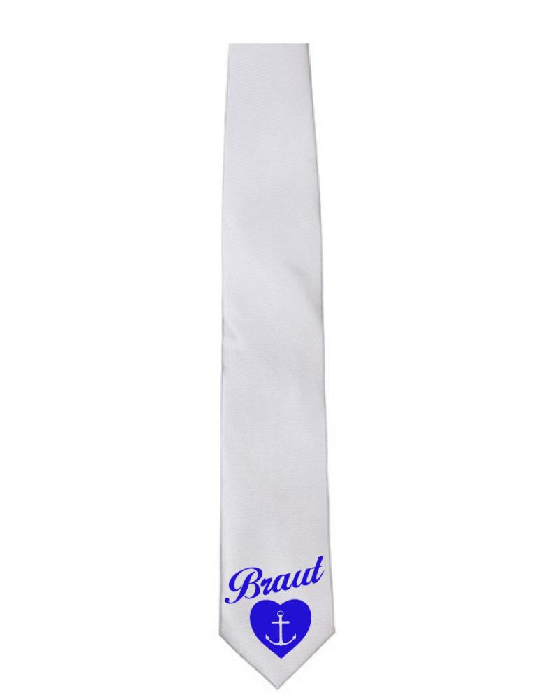 Krawatte Braut Anker