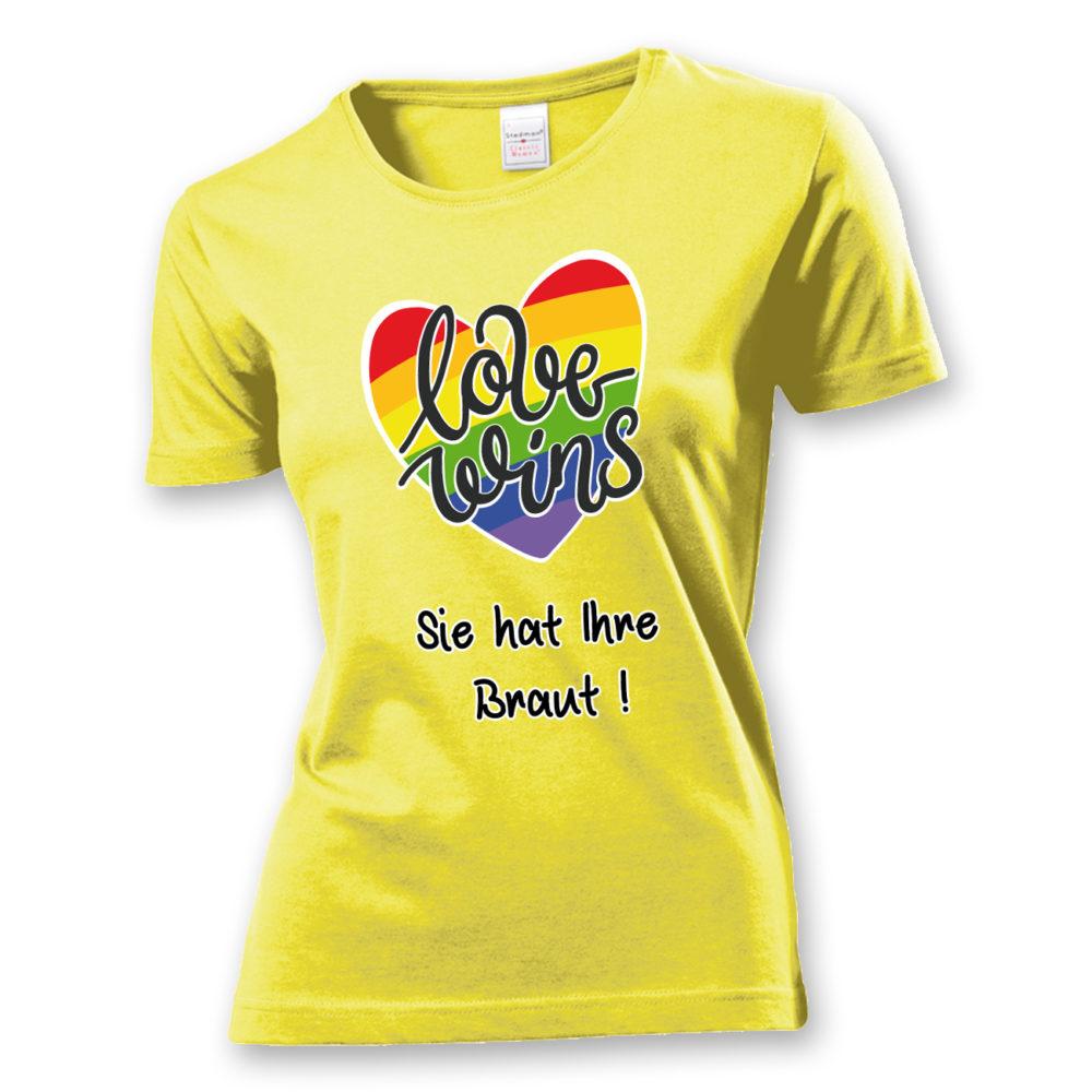 T-Shirt Love wins! Sie hat Ihre Braut!