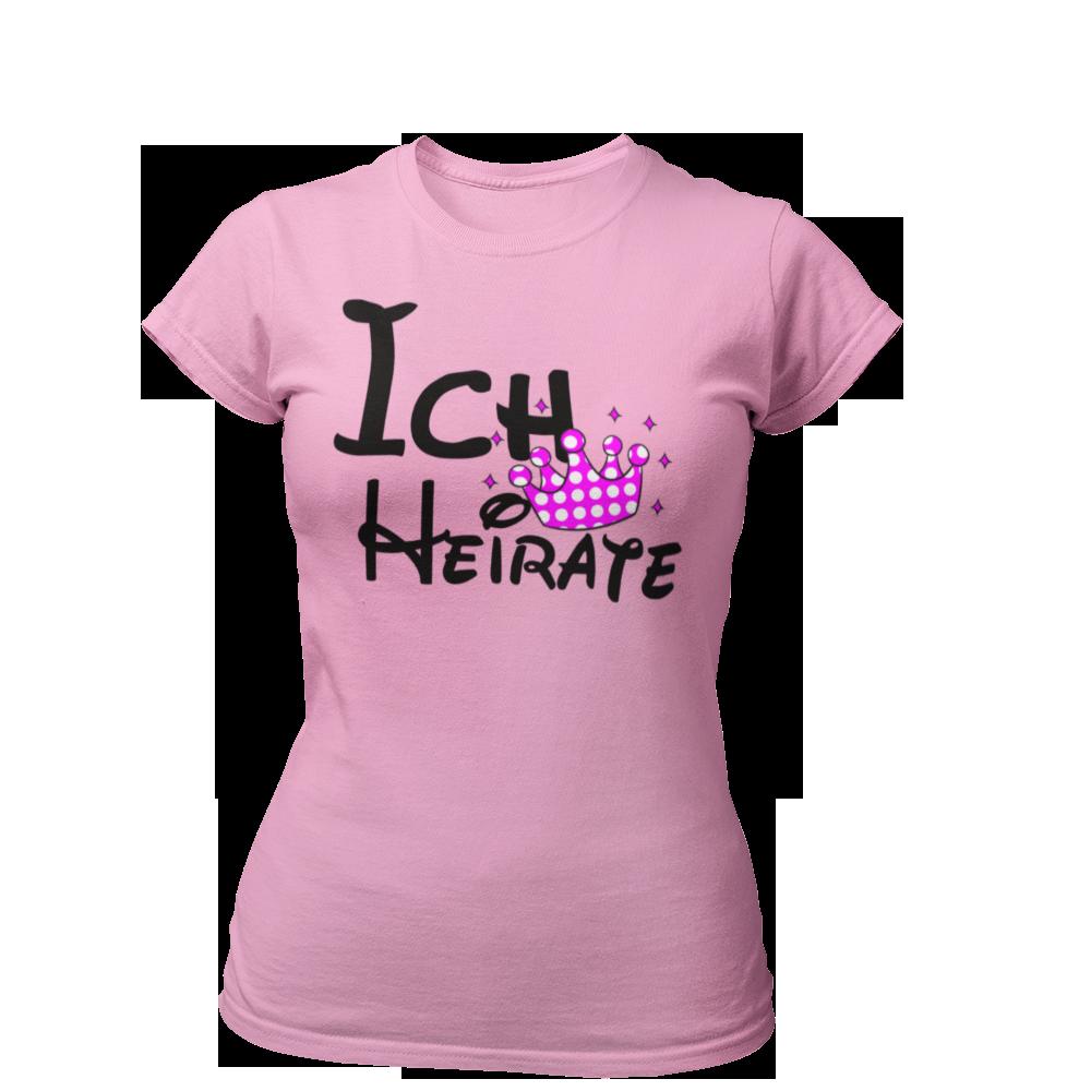 T-Shirt Ich heirate - Krone