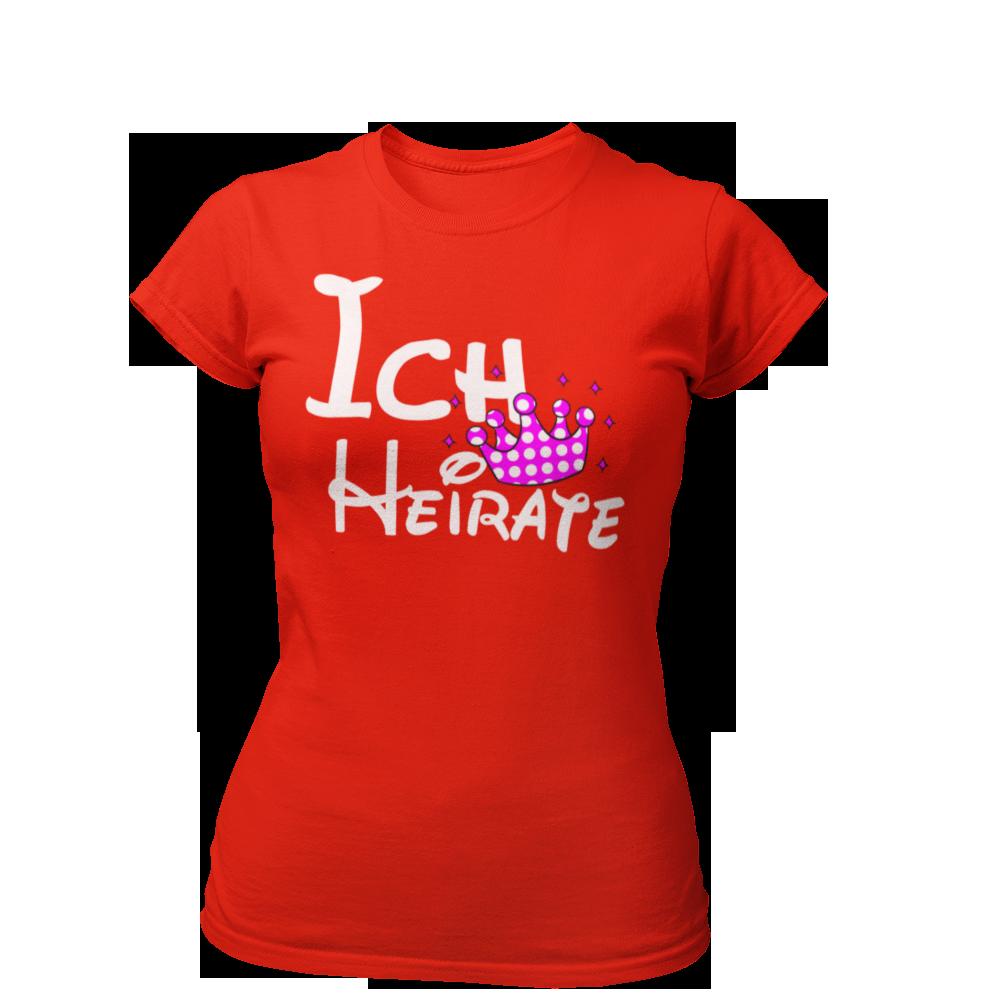 Ich heirate - Krone T-Shirt Ich heirate - Krone - JGA-King.de - 1