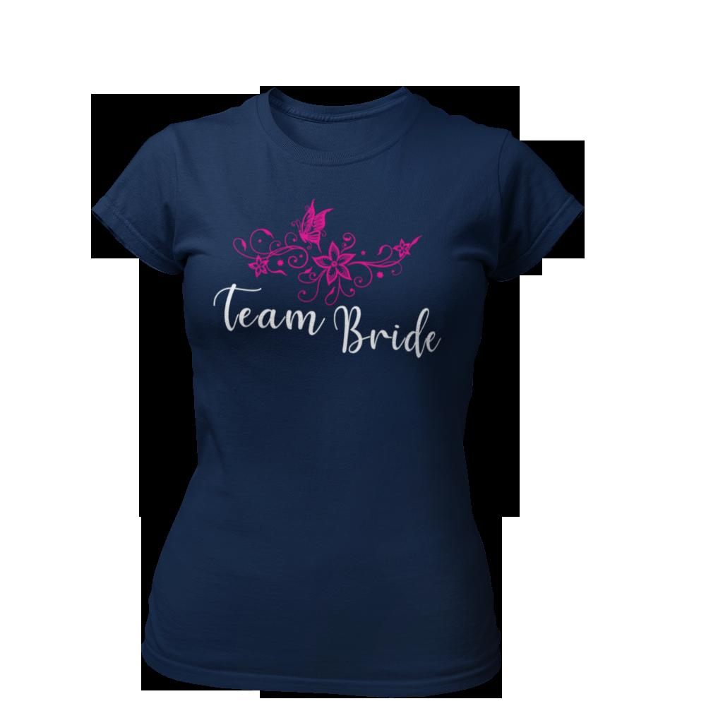 T-Shirt Team Bride Blumen