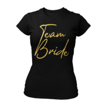 T-Shirt Team Bride Gold & Heartless